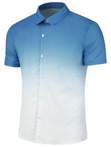 سليم صالح أومبير عارضة قميص - أزرق 3xl