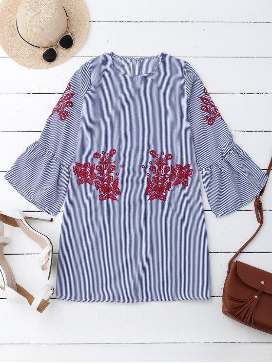 Robe à rayures à rayures rayées Mini Dress - Rayure S