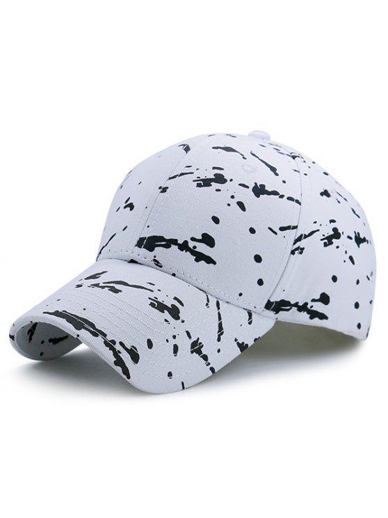 قبعة بيسبول مزينة ببقع - أبيض