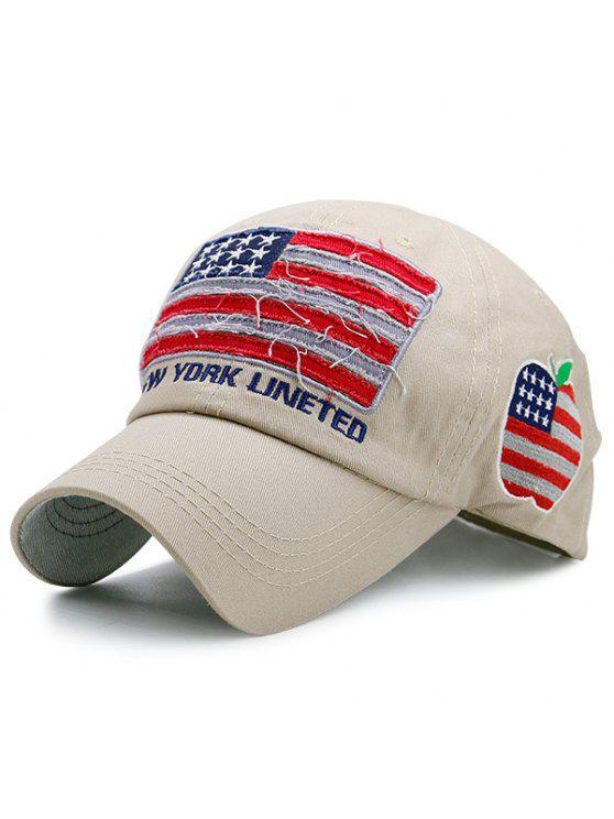 الولايات المتحدة العلم خليط خطابات التطريز قبعة بيسبول - كاكي