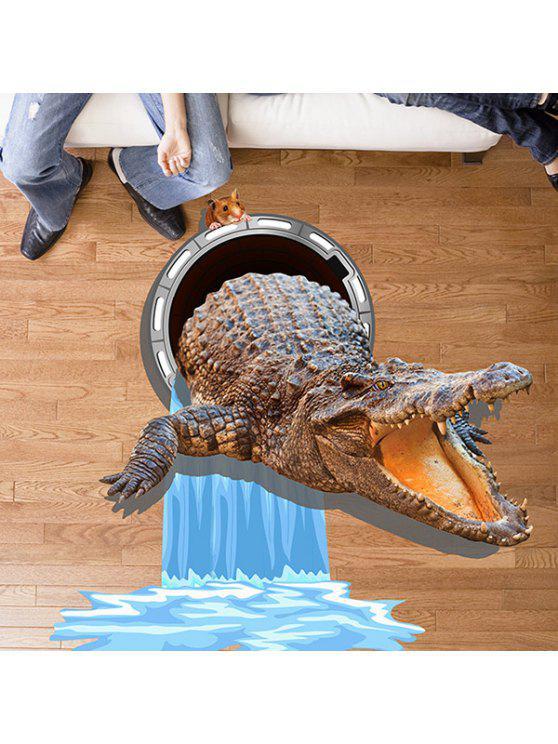 قابل للإزالة 3d تمساح ماوس ماء جدار ملصق - متعدد الألوان 60 * 90CM