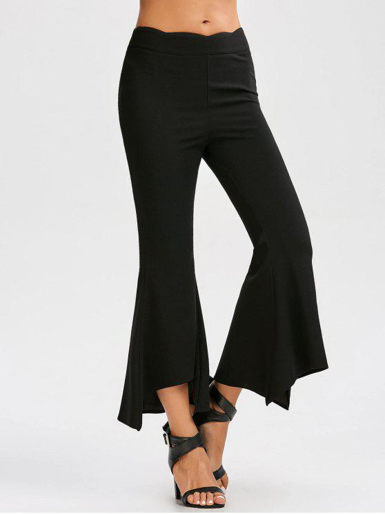 328e1f300fbf 26% OFF  2019 High Waist Flare Pants In BLACK