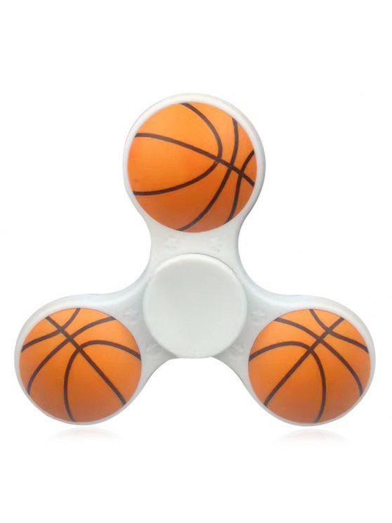 كمان لعبة ثلاثي شريط البلاستيك كرة السلة التمزق الدوار - أبيض
