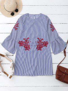 Robe à Rayures à Rayures Rayées Mini Dress - Rayure M