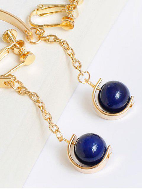 Boucles d'oreilles en forme de demi-cercle en métal perle - Or  Mobile