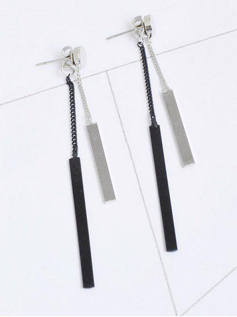Boucles d'oreille avant en métal - Argent  Mobile