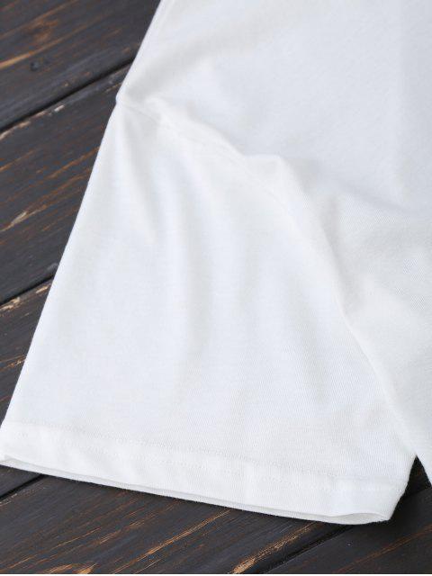 unique Oversized Printed Back Bowknot T-Shirt - WHITE L Mobile