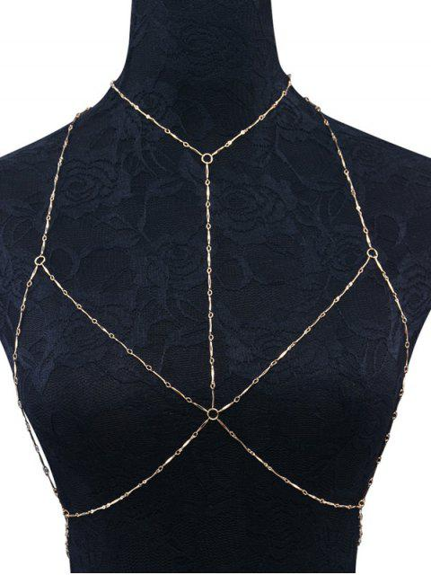 online Geometric Circle Bra Body Chain - GOLDEN  Mobile