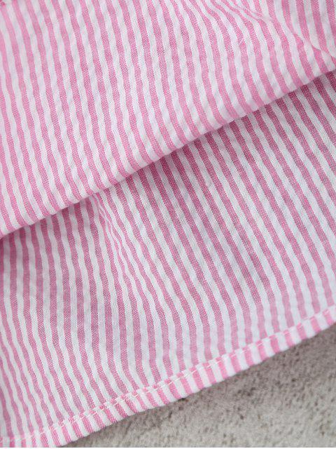 latest Stripes Flare Sleeve Off Shoulder Top - STRIPE L Mobile
