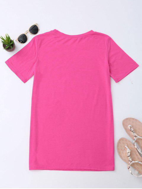 new Super Mom Letter T-Shirt - DEEP PINK M Mobile