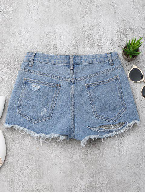 new Denim Distressed Cutoffs Shorts - DENIM BLUE S Mobile