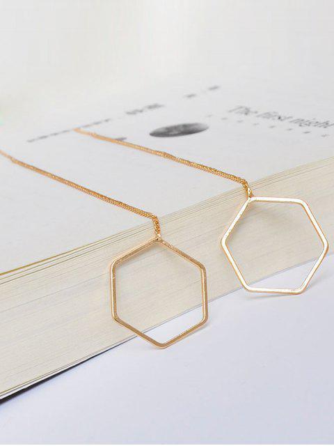 new Metal Hexagon Chain Drop Earrings - GOLDEN  Mobile