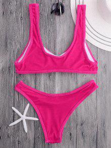 1bcc8ab27ea 23% OFF  2019 Velvet Bralette Scoop Bikini Set In ROSE