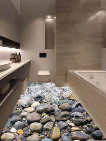 3d حجر ستريم الفينيل الطابق ملصق - متعدد الألوان 50 * 70cm