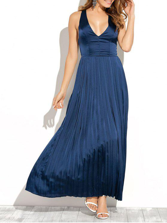 0a87971ab4e 25% OFF  2019 Cut Out Low Cut Maxi Long Prom Dresses In BLUE