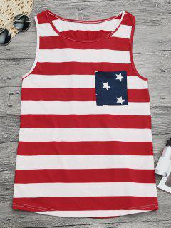 Bowknot Racerback American Flag Tank Top - S