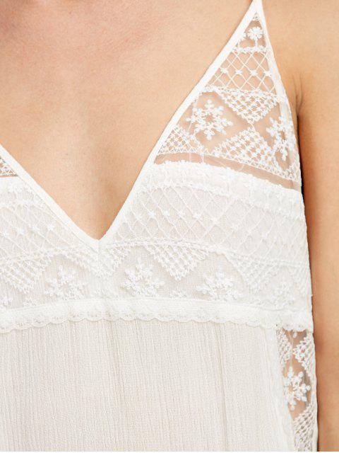 best Cami Handkerchief Armhole Sheer Sundress - WHITE M Mobile