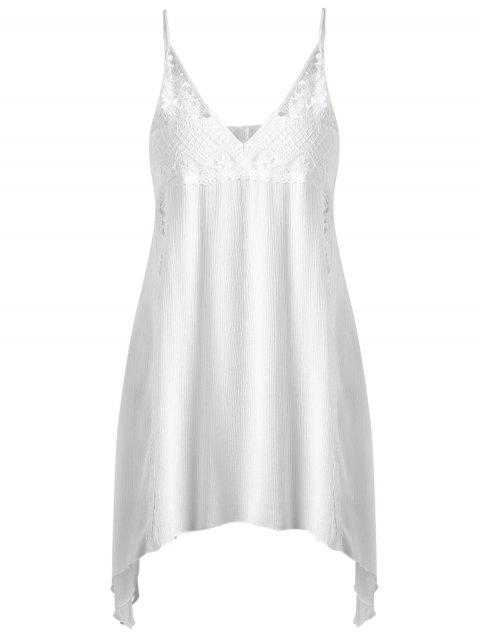 new Cami Handkerchief Armhole Sheer Sundress - WHITE XL Mobile