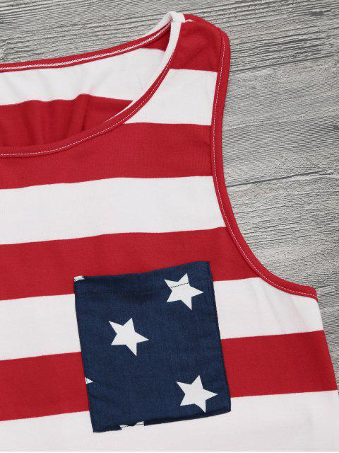shops Bowknot Racerback American Flag Tank Top - COLORMIX S Mobile