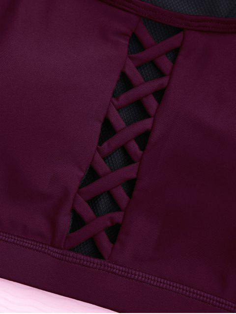 Soutien-gorge sportif paddé à lacets - Bourgogne M Mobile
