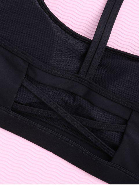 Soutien-gorge rembourré de sport à bretelles Y - Noir M Mobile