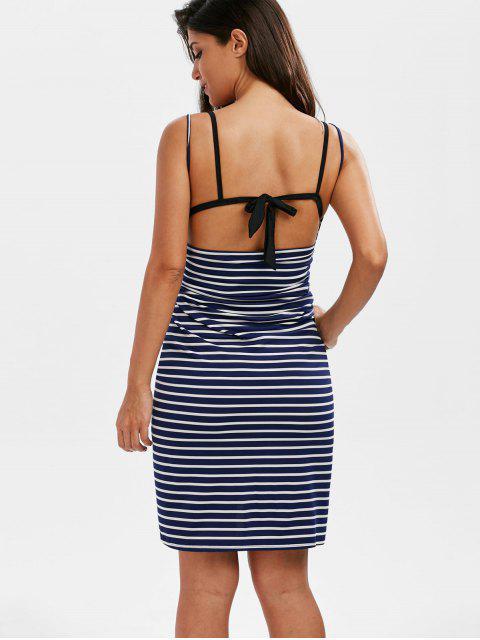 fancy Striped Open Back Multiway Wrap Cover-ups Dress - STRIPE 2XL Mobile