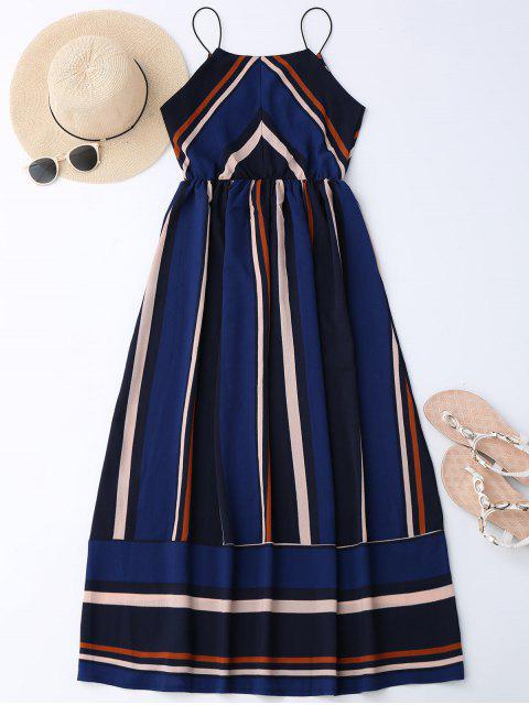 shops Maxi Holiday Sundress With Stripes - BLUE M Mobile