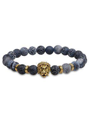 Bracelet en pierre naturelle à tête de lion