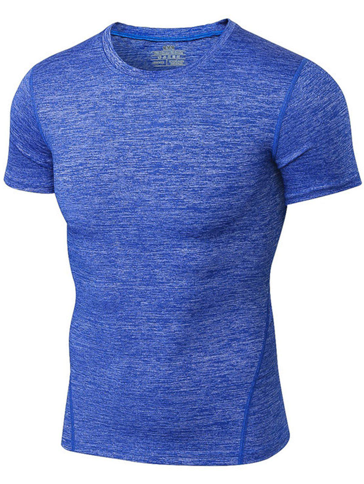 Space Dye Short Sleeve Activewear 214282505