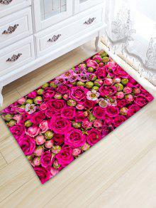 زفاف روز طباعة امتصاص الماء الفانيلا حمام البساط - وردة حمراء W20 بوصة * L31.5 بوصة