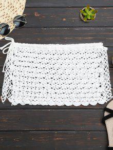الكروشيه البسيطة شاطئ التستر تنورة - أبيض