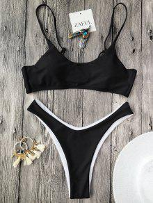 Cami Padded Thong Bathing Suit - Black S
