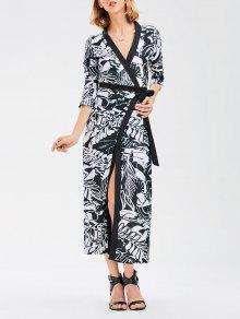 Bohemia Wrap Maxi Vestido Con Pintura China - S