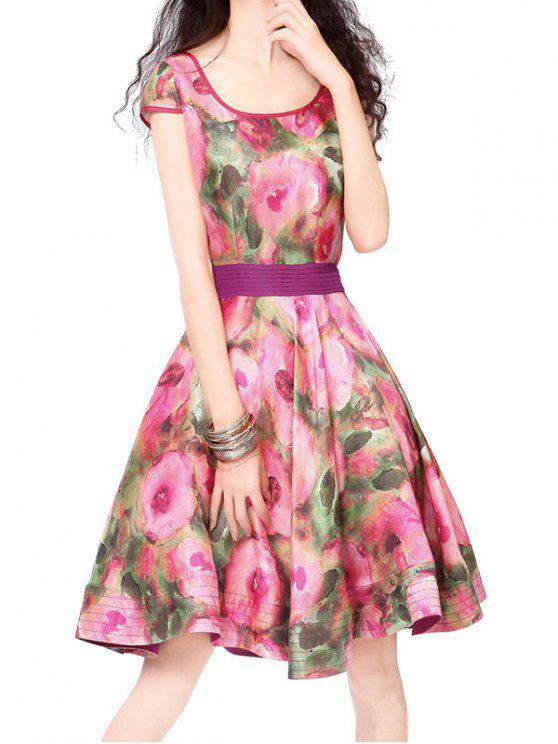 En forma y vestido de la llamarada de la vendimia - Floral M