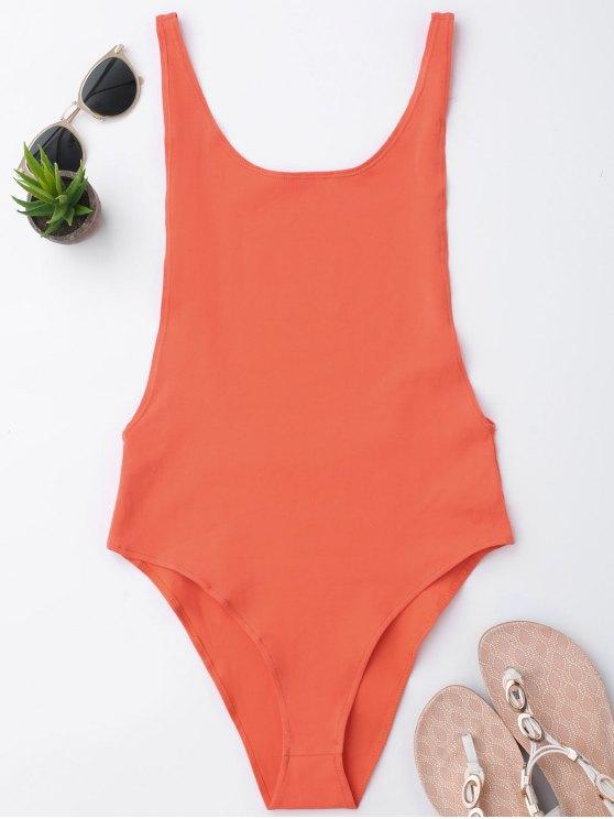 trendy Skinny Sleeveless Backless Bodysuit - JACINTH S