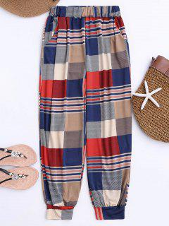 Soft Colorful Plaid Slouchy Pants