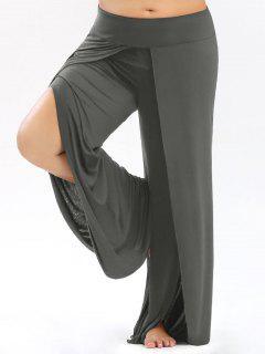 Pantalons Palazzo Grande Taille Avec Haut Split - Gris 5xl