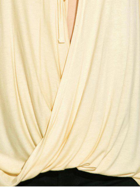 T-shirt à avant torsadé et manches longues - Blanc Cassé S Mobile