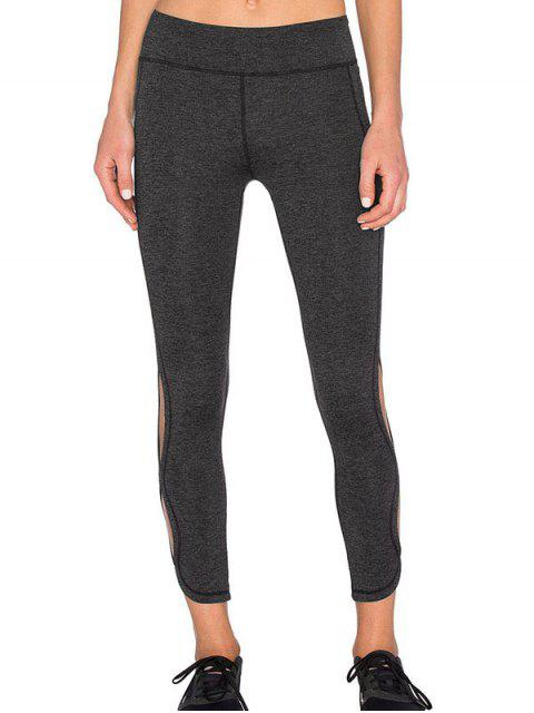 Leggings Tight Fit deportivo del recorte - Gris Oscuro S Mobile