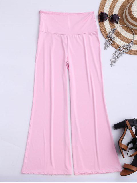 women's Soft High Waisted Palazzo Pants - PINK M Mobile