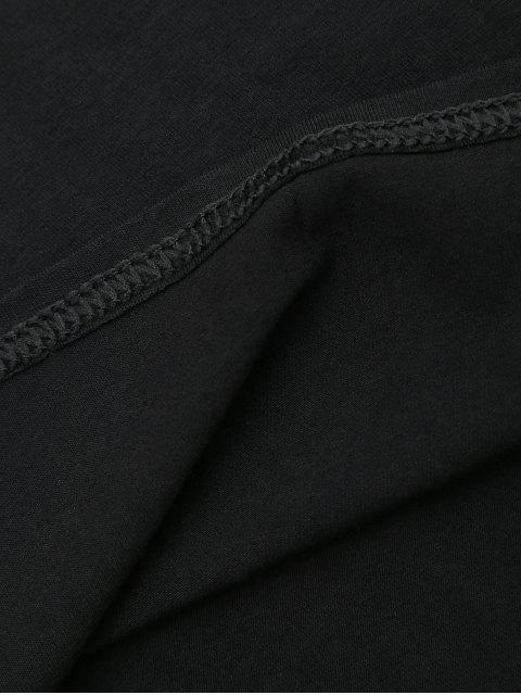 latest Corset Waist Choker T-shirt Dress - BLACK M Mobile