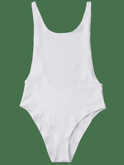 Combinaisons bandeau sans manches dos nu - Blanc M Mobile