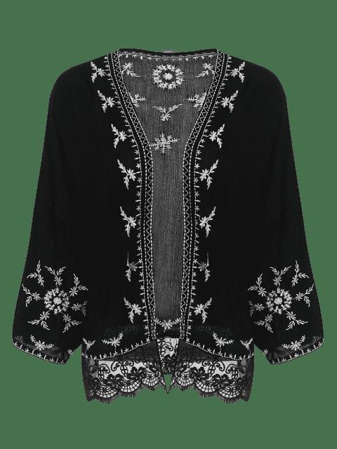 Kimono brodé - Noir S Mobile