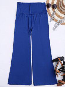 Soft High Waisted Palazzo Pants - Royal S