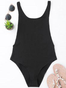 Skinny Sleeveless Backless Bodysuit - Negro S