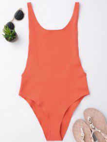 Skinny Sleeveless Backless Bodysuit - Jacinth M