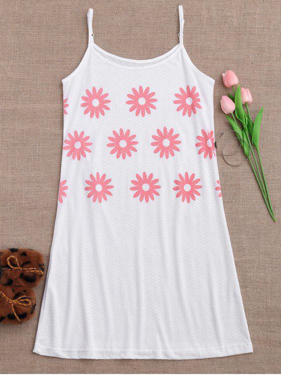 Cami Sun Flower Schlafkleid - Weiß M