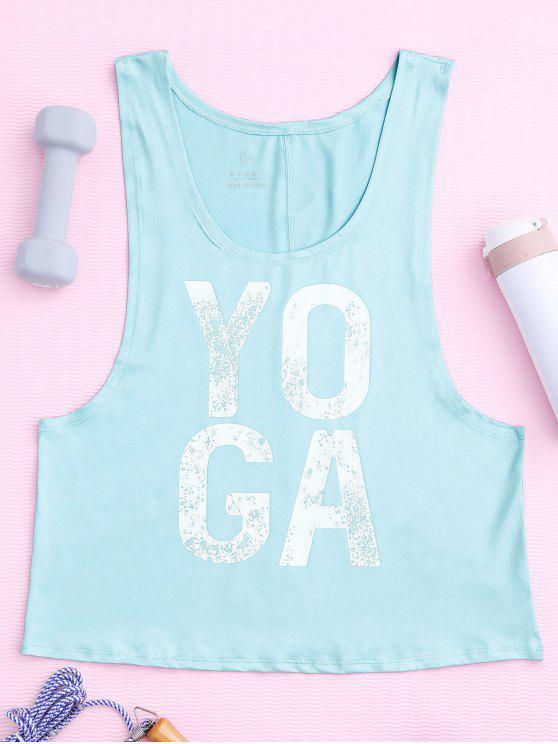 Yoga Abandonado Armhole Deportes Tank Top - Cian M