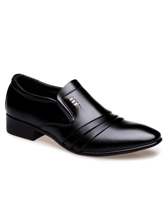 أحذية رسمية مطوية بجلد اصطناعي - أسود 40