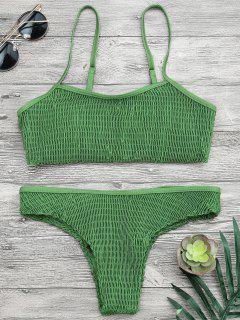 Cami Geripptes Braletten Bikini Set - Grün M